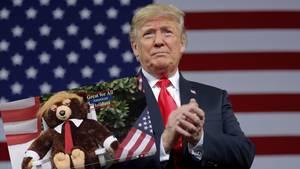 "US-Präsident Donald Trump und ""Trumpy Bear"""