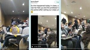 USA: Professorin ruft Polizei, weil Studentin ihre Füße auf dem Tisch hat