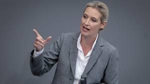 AfD-Fraktionschefin Alice Weidelweist eine Verantwortung für den Vorgang zurück