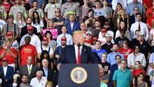 Donald Trump bei einem Wahlkampfauftritt im August in Evansville, Indiana