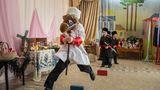 Im Kindergarten üben sich schon die Kleinsten in den Traditionen der Kosaken