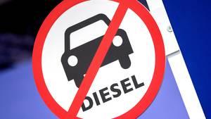 Diesel-Fahrverbotszone in Essen mit Teilen der Autobahn 40