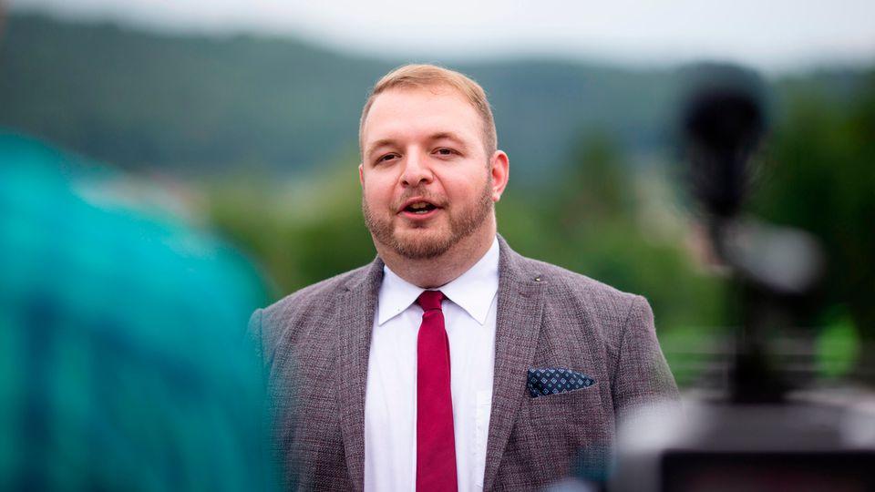 Damian Lohr, Bundesvorsitzender der Jungen Alternative (JA)