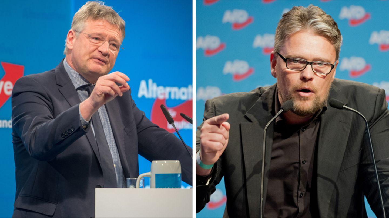 Jörg Meuthen, links, und Guido Reil: Zwei Kandidaten der AfD fürs Europaparlament