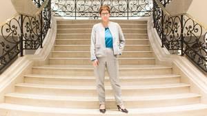 Auf dem Weg nach oben: Annegret Kramp-Karrenbauer