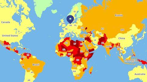 """""""Travel Risk Map"""": Reiseziele 2019: Das sind die gefährlichsten Länder der Welt"""