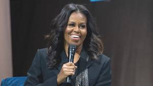 Die ehemalige First Lady der USA, Michelle Obama, in der Capital-One-Arena in Washington