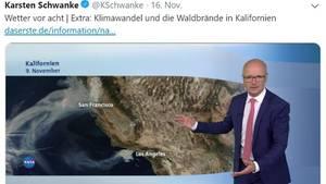 ARD-Wettermann Karsten Schwanke erläutert den Klimawandel