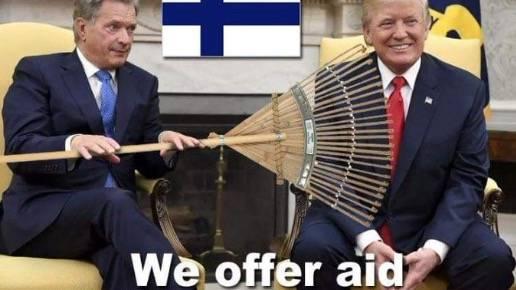 Nach Aussage zu Waldbränden : So witzig reagieren Finnen auf Trumps Aussage nach Waldbränden