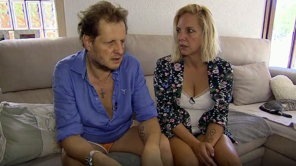 Jens Büchner und seine Frau Daniela nach seinem Krankenhausaufenthalt im September