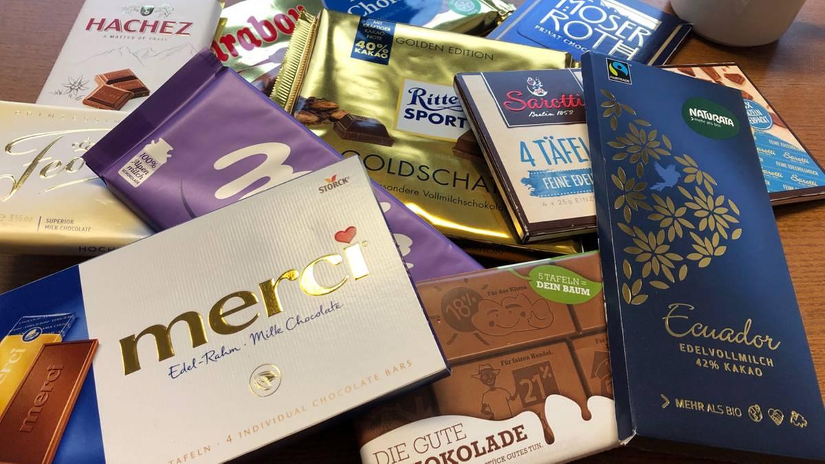 Schokolade Test