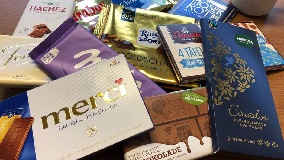 Bekannte und weniger bekannte Sorten: Insgesamt hat die Stiftung Warentest 25 Schokoladen getestet.