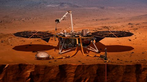 "Visualisierung des Nasa-Landers ""Insight"""