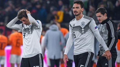 Nationalmannschaft: DFB-Spieler Müller, Hummels und Rudy trotten vom Platz