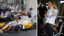 Die 17-jährige deutsche Rennfahrerin Sophia Flörsch brach sich bei dem Horrorunfall einen Halswirbel
