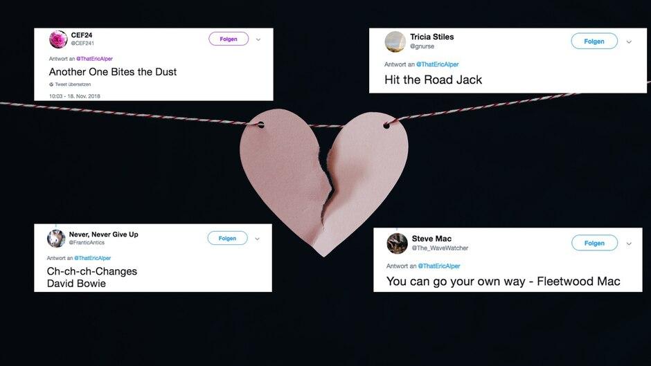 Twitter: Leute teilen Songs, die sie bei ihrer Scheidung spielen würden