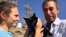 Youtuber verliert alles in den Waldbränden von Kalifornien – doch dann taucht seine Katze auf