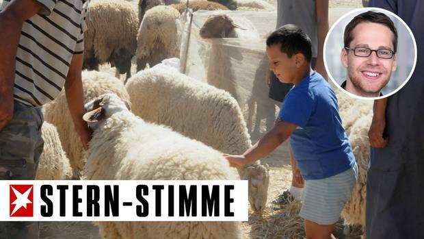 Schaf auf Markt in Tunis