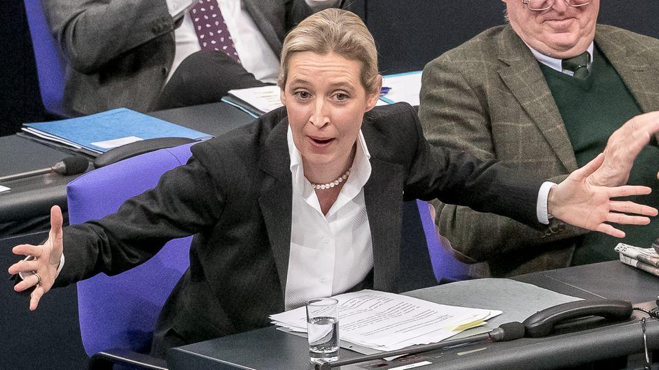 AfD-Chefin Alice Weidel im Bundestag