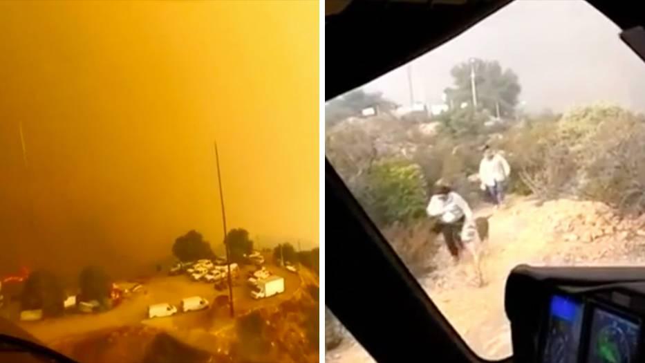 Waldbrände in Kalifornien: Video zeigt Helikoptereinsatz aus dem Flammenmeer – mit Happy-End