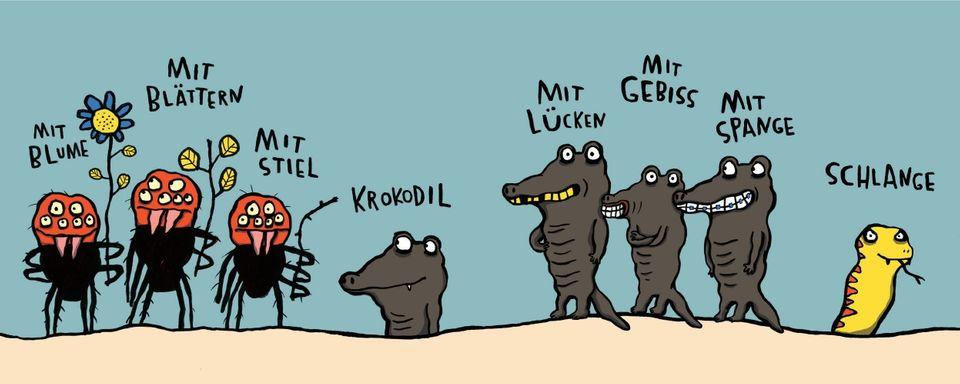 Taranteln, Krokodile, Schlange