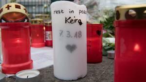 Trauerkerzen für die getötete Keira