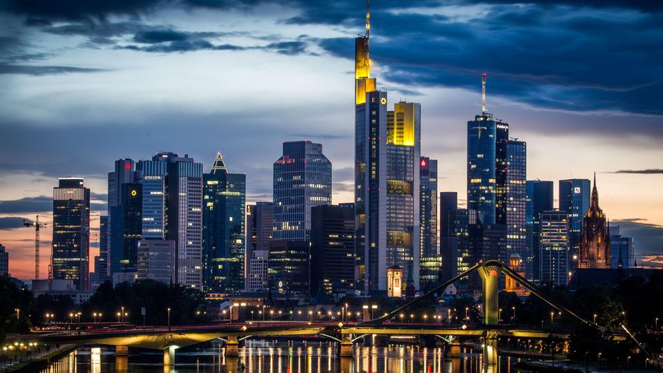 Blick auf das Frankfurter Bankenviertel