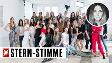 30 Mädchen bewerben sich bei Sylvie Meis um einen Job als Dessous Model - am Ende der ersten Folge sind es nur noch acht