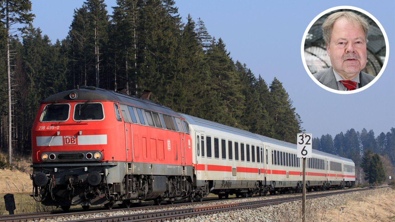 """Deutsche Bahn in der Krise: ein Intercity und Karl-Peter Naumann von """"Pro Bahn"""""""