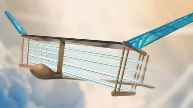 Das Modell setzt auf extremen Leichtbaubei großen Auftriebsflächen.