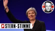 """Theresa May kann vorübergehend aufatmen: Bislang haben sich """"nur"""" 26 Tories offen zu einer Rebellion gegen die Premierministerin bekannt."""