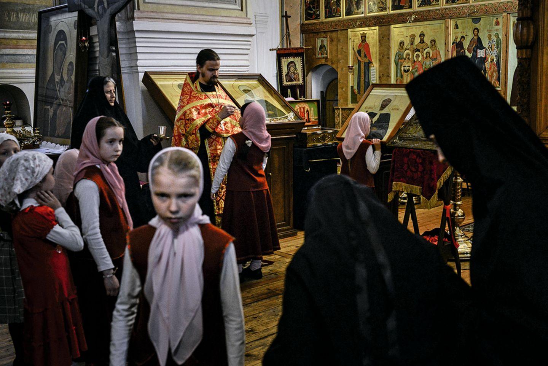 Internatsschülerinnen in Twer/Russland