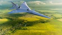 Die X-59 ist wesentlich kleinerals das angedachte Passagierflugzeug.