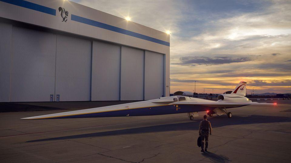Die X-59 soll dieQueSST-Technologie erproben. Bisherige Versuche fanden mit umgebauten Militärjets statt.