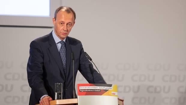 Friedrich Merz auf der CDU-Regionalkonferenz im thüringischen Seebach