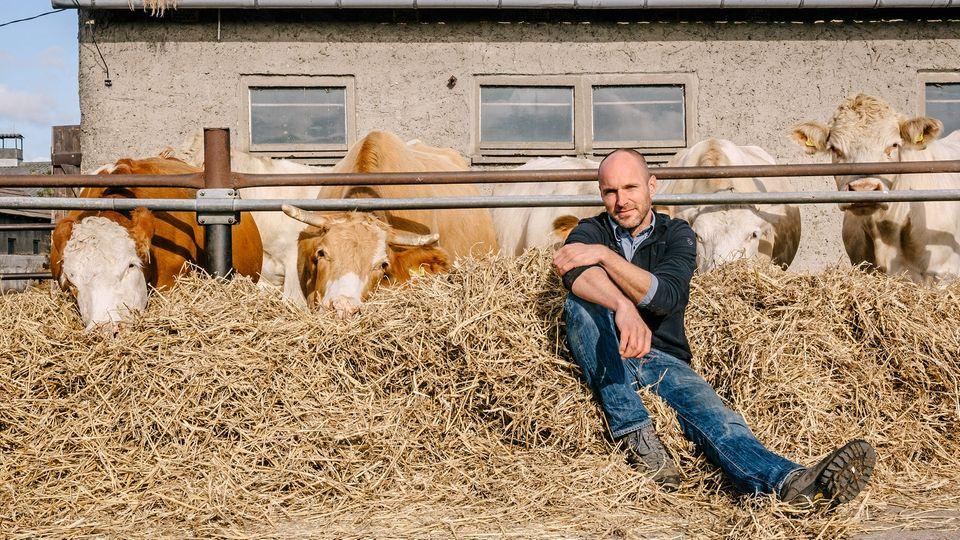 Christoph Lehmann züchtet Rinder der Rasse Uckermärker im brandenburgischen Bergsdorf