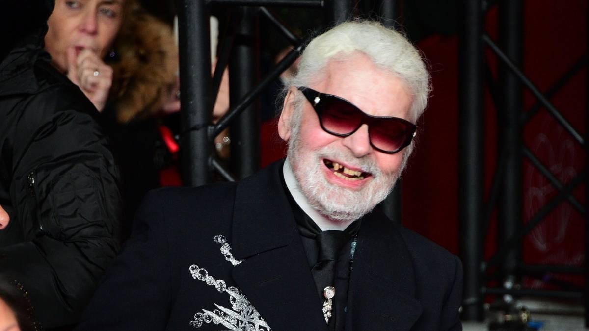 Karl Lagerfeld Zähne