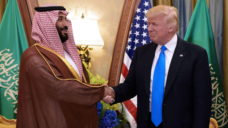 Donald Trump und Saudi-Arabiens Kronprinz Mohammed bin Salman bei einem treffen 2017 in Riad