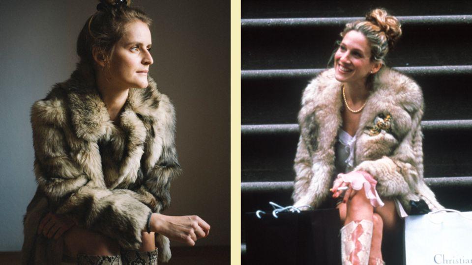 """Mode-Selbstversuch: Abgeguckt und anprobiert: Ich habe mich wie Carrie aus """"Sex and the City"""" angezogen"""