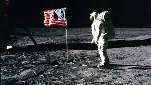 Nasa-Astronaut Edwin 'Buzz' Aldrin auf dem Mond