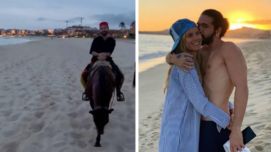 Am Strand: Heidi Klum und Tom Kaulitz unternehmen romantischen Reitausflug – einer darf natürlich nicht fehlen