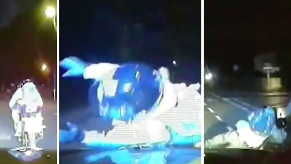 Motorroller-Überfälle: Flüchtige rammen: Mit dieser bizarren Methode verfolgt die Polizei Diebe in Großbritannien