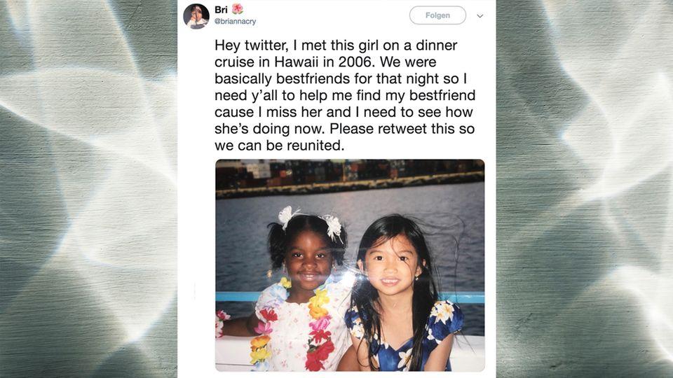 Nach zwölf Jahren: Mit diesem Foto sucht eine Frau auf Twitter nach ihrer Freundin – und wird überrascht