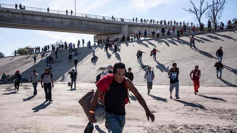 Mittelamerikaner in Tijuana