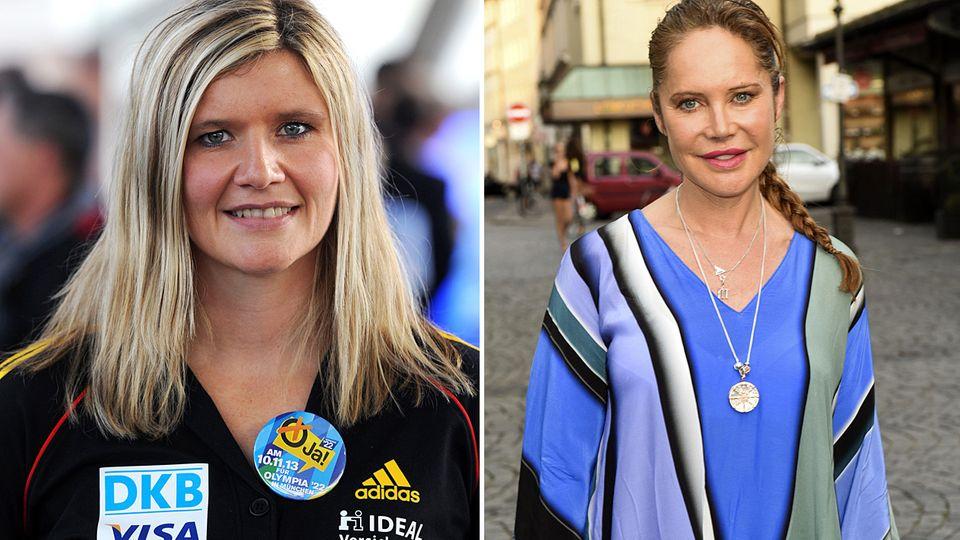 Bob-Olympiasiegerin Sandra KiriasisundSchauspielerinDoreen Dietel (r.) sollen ebenfalls in den Dschungel