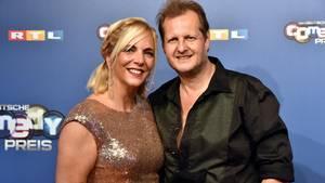 Daniela und Jens Büchner einen Monat vor seinem Tod bei derVerleihung des Deutschen Comedy Preises in Köln