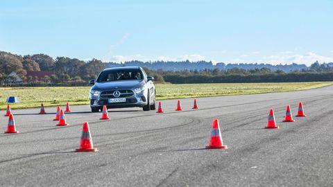 Die Mercedes A-Klasse beim sogenannten Elchtest.