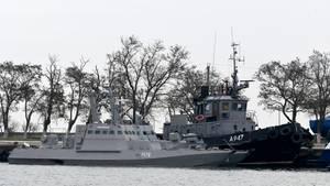 Diese ukrainischen Schiffe waren am Sonntag von der Russischen Marine aufgebracht und gekapert worden