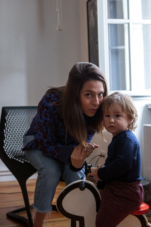 Yara Jentzsch Dib mit Sohn Pan