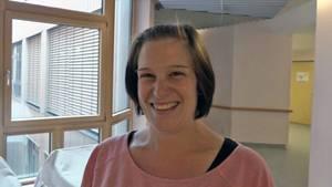 Bester Dinge:Lorena Acker (32) kurz vor der Entbindung ihrer Vierlinge.